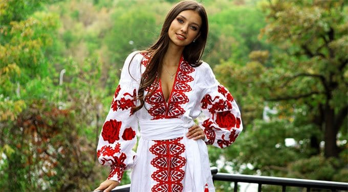 a beautiful Ukrainian girl