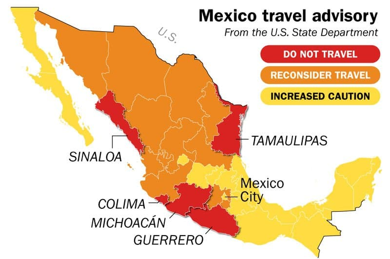 Mexico travel advisory