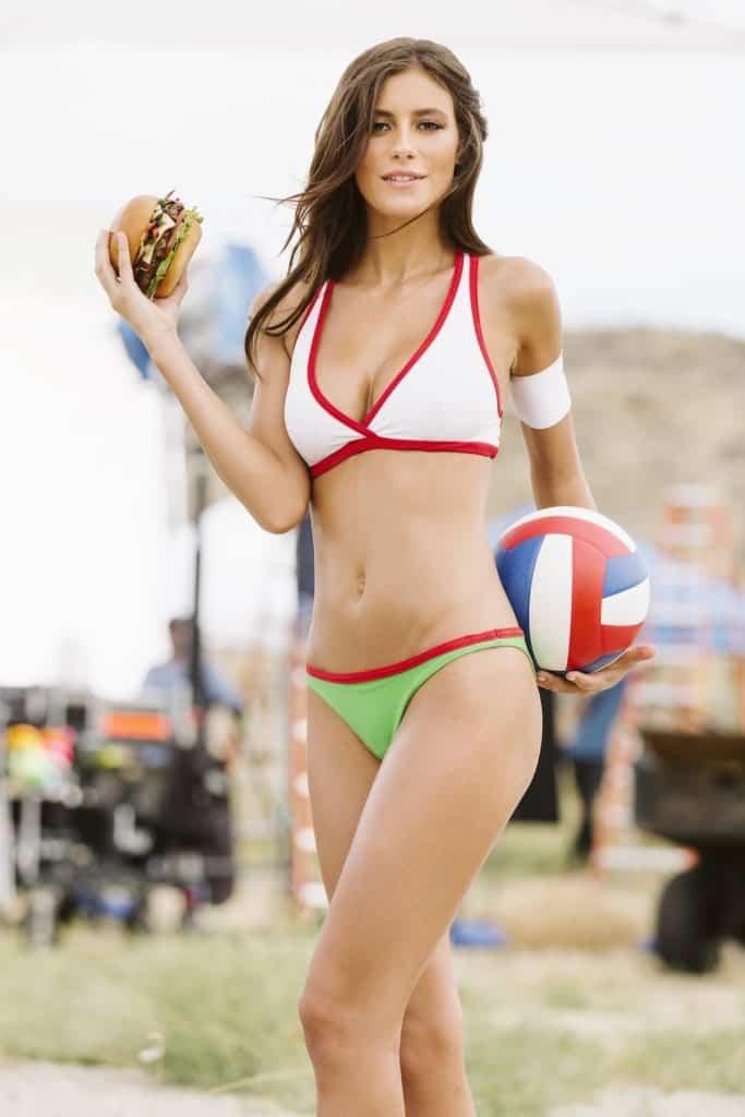 Alejandra Guilmant in a burger commercial