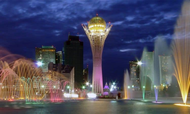 beautiful and colorful city of Kazakhstan