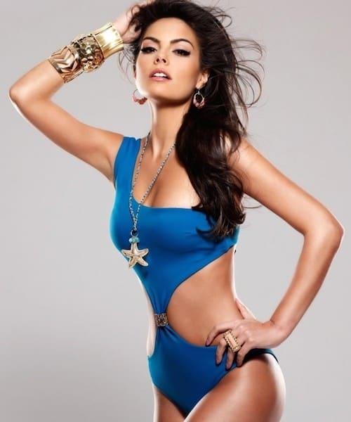 Ximena Navarrete hot in blue