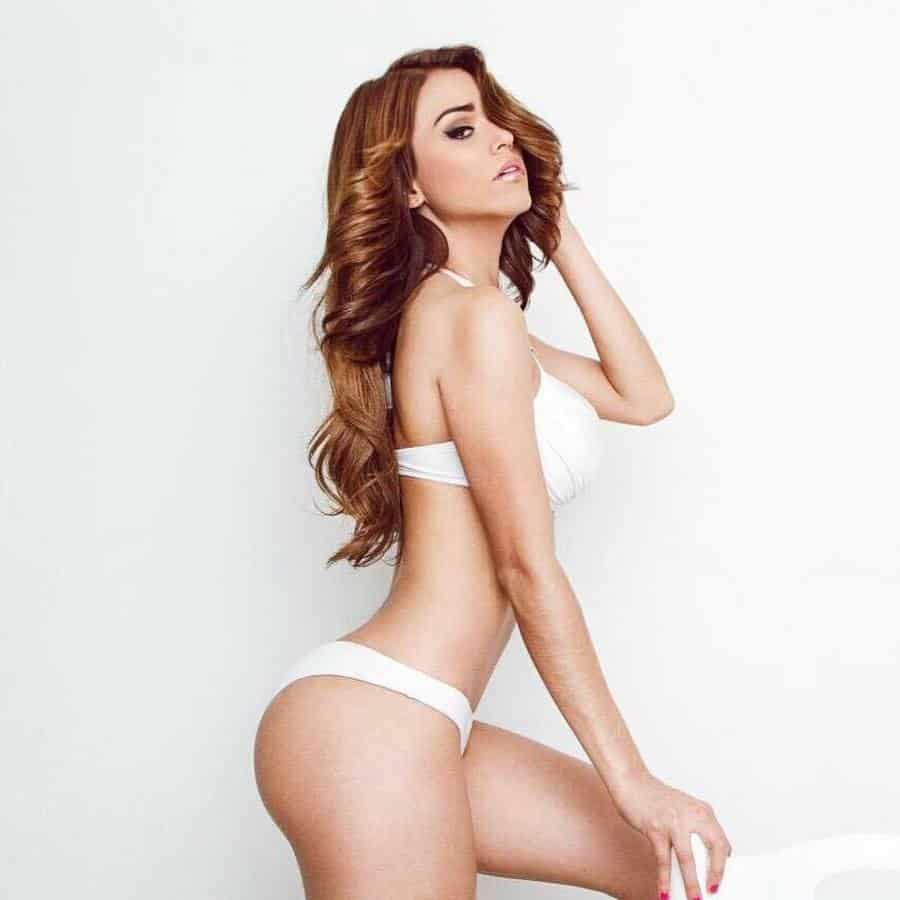 Yanet Garcia beautiful in white
