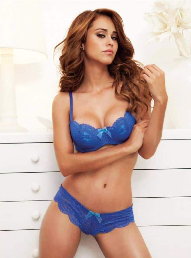 Yanet Garcia hot in blue lingerie bikini