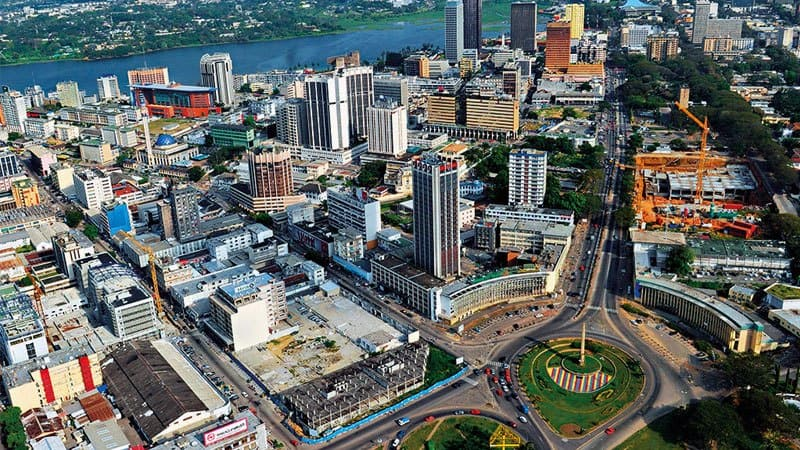 aerial view of Ivory Coast