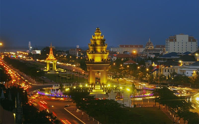 beautiful city of Phnom Penh in Cambodia