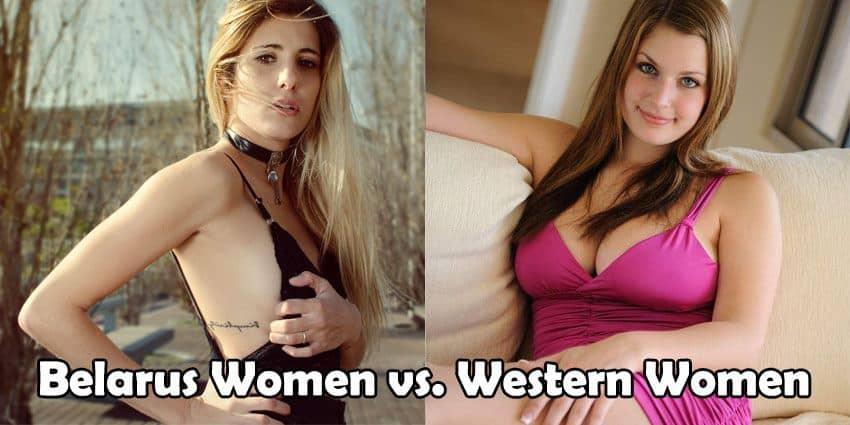 Belarus woman and Western woman