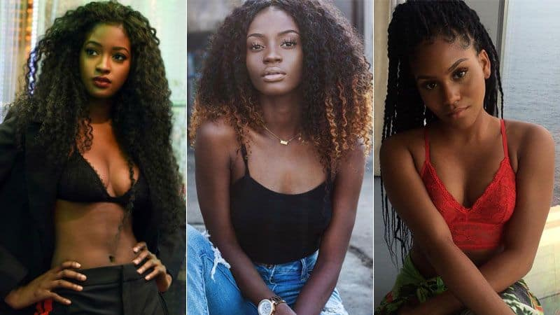curly-haired girls from Ivory Coast