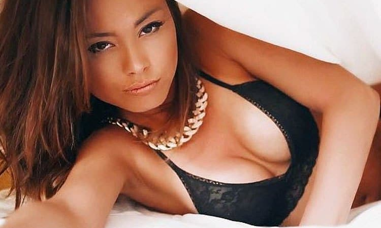 hot Kazakh girl on the bed