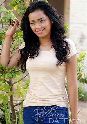 simple and sweet girl from Cambodia