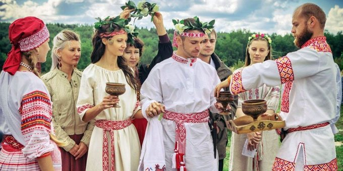 traditional Slavic wedding