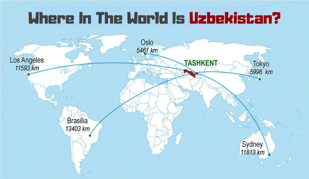 Where is Uzbekistan on a Map