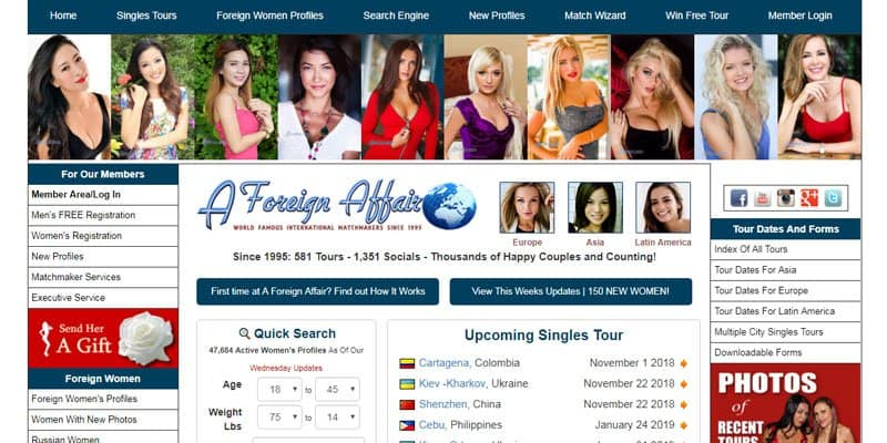 A Foreign Affair website