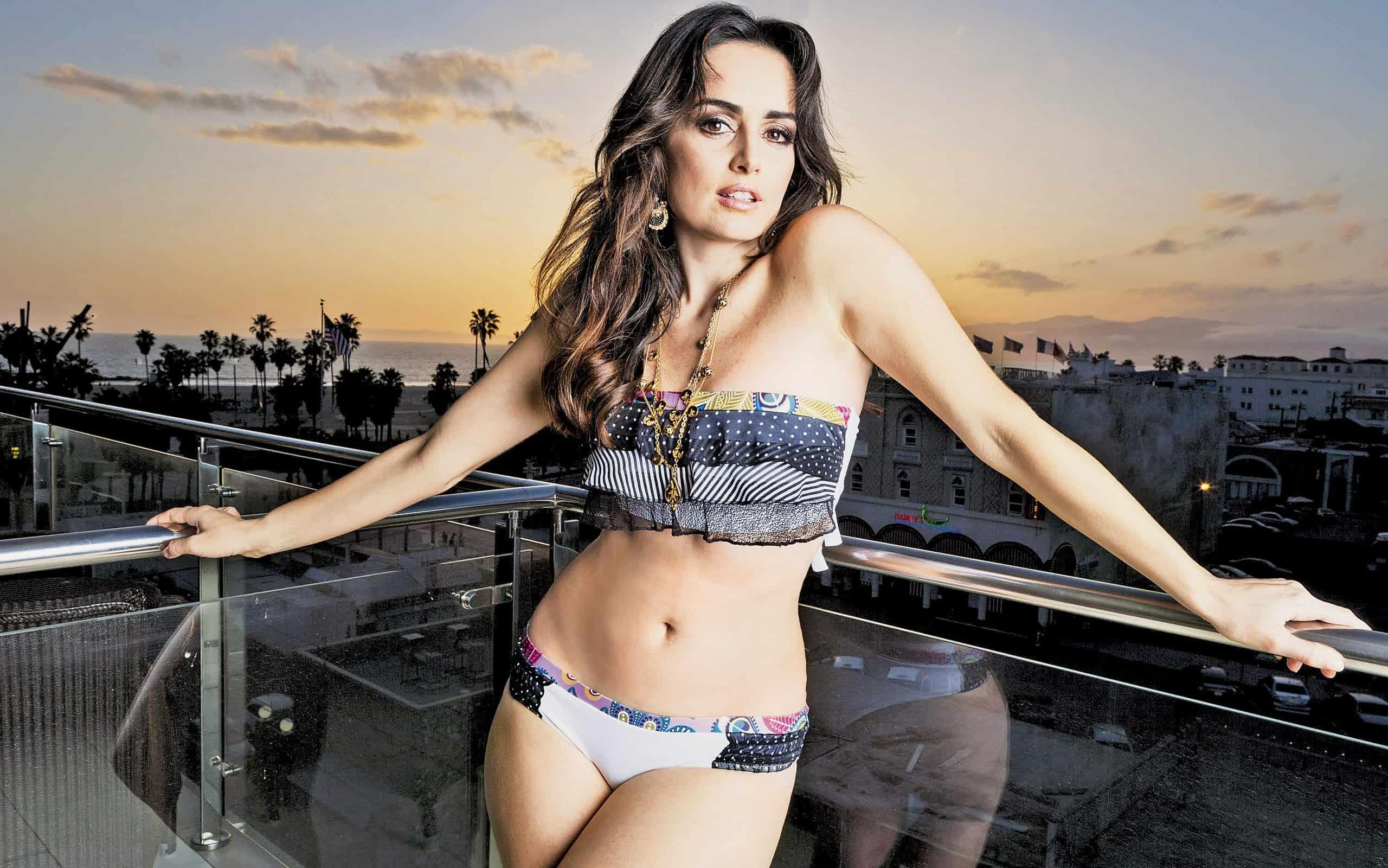 Ana Claudia Talancon on the terrace