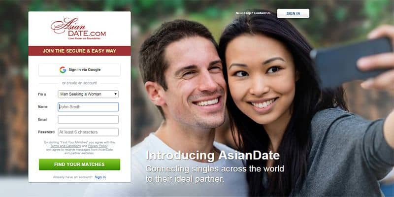 Asian Date website