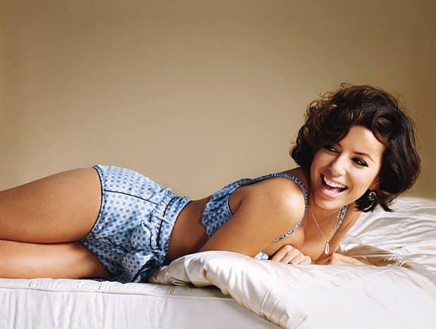 Eva Longoria sexy on the bed