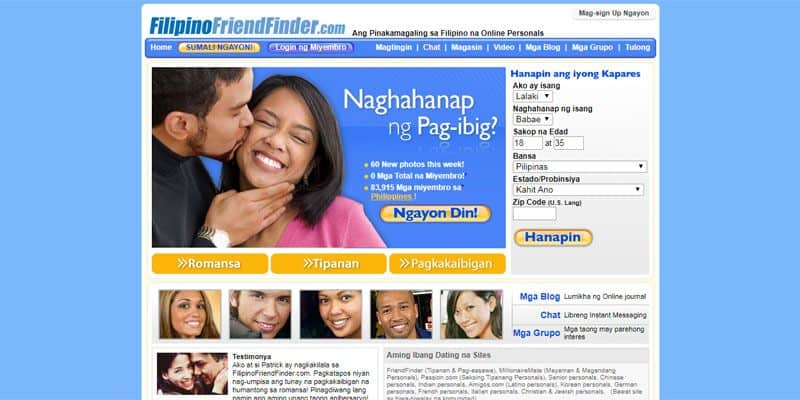 Filipino Friend Finder website