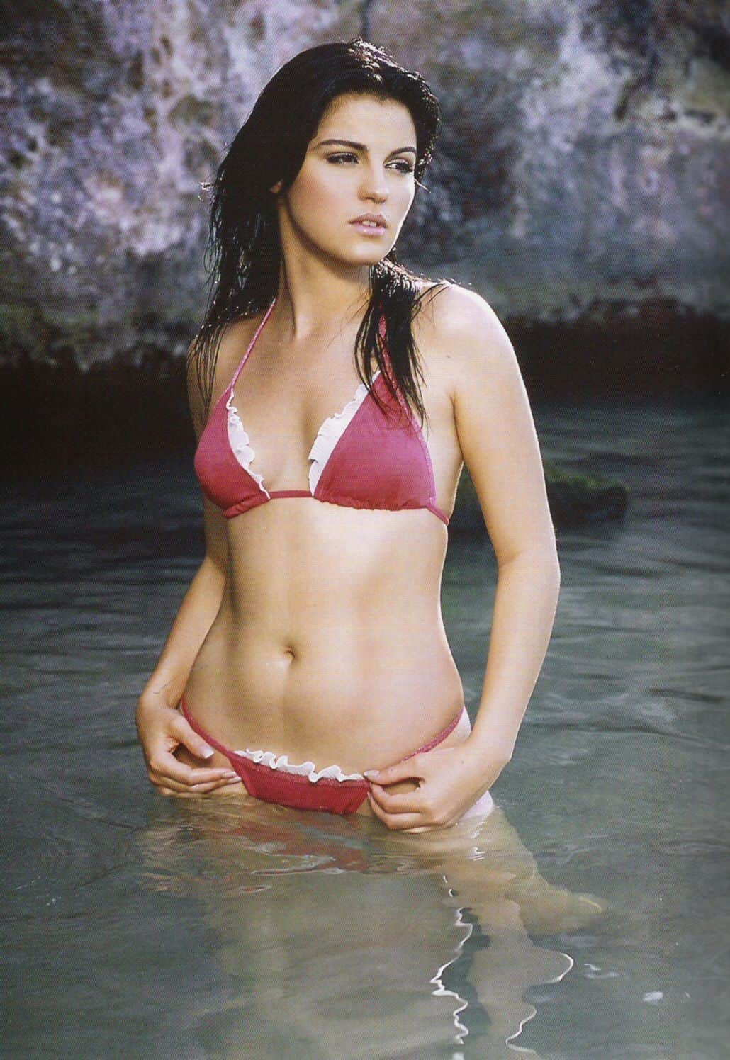 Maite Perroni at the water