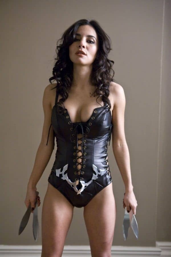 Martha Higareda in sexy leather