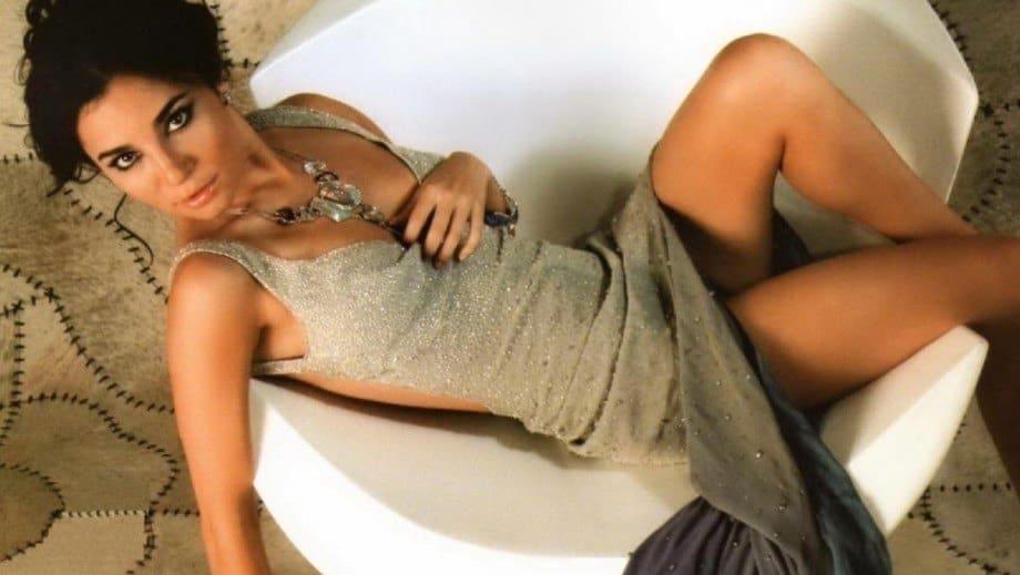 Martha Higareda in the bath tub