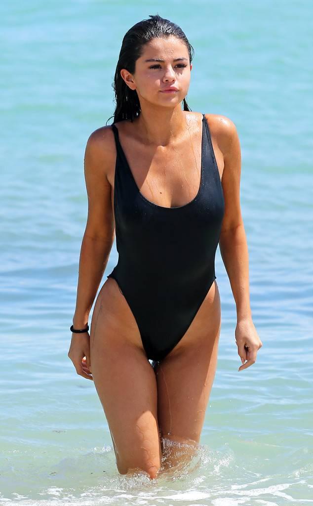 Selena Gomez at the beach