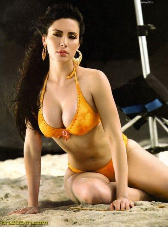 Sugey Abrego in yellow bikini