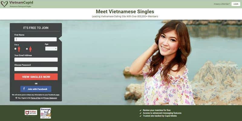 Vietnam Cupid website