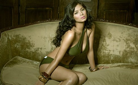 Angel Locsin on the couch
