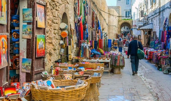 beautiful and colorful streets in Morocco