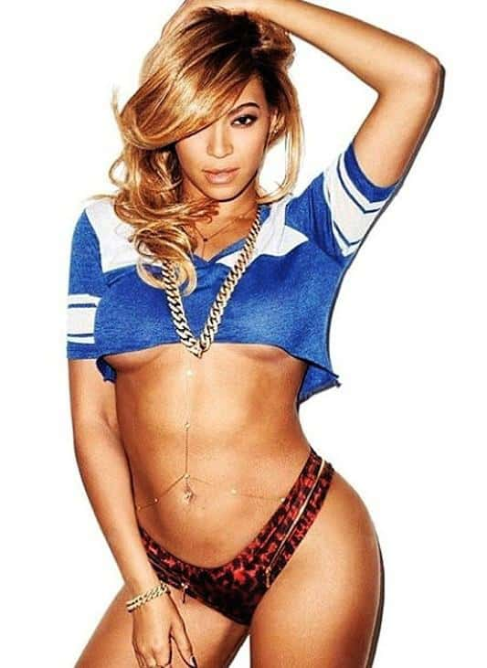 Beyonce flat abs