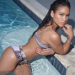 Cassie stunning at the pool in bikini