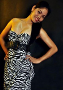 Filipina babe wearing a zebra printed dress