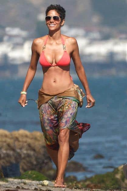 Halle Berry abs in bikini