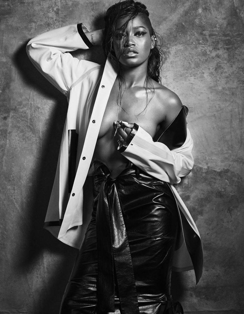Keke Palmer stunning in black and white