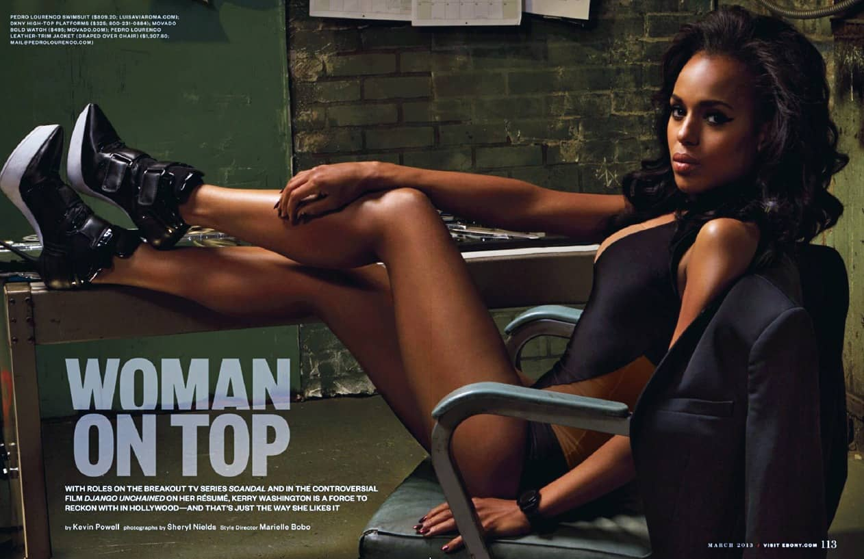 Kerry Washington Woman on Top pictorial