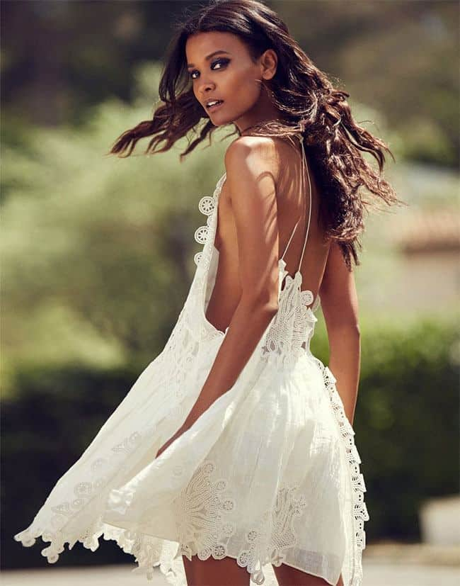 Liya Kebede beautiful in white
