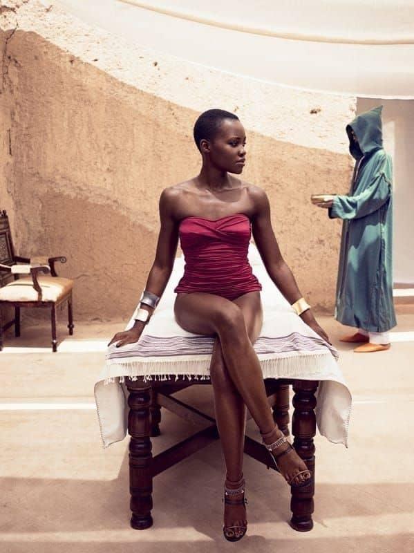 Lupita Nyong'o sexy long legs