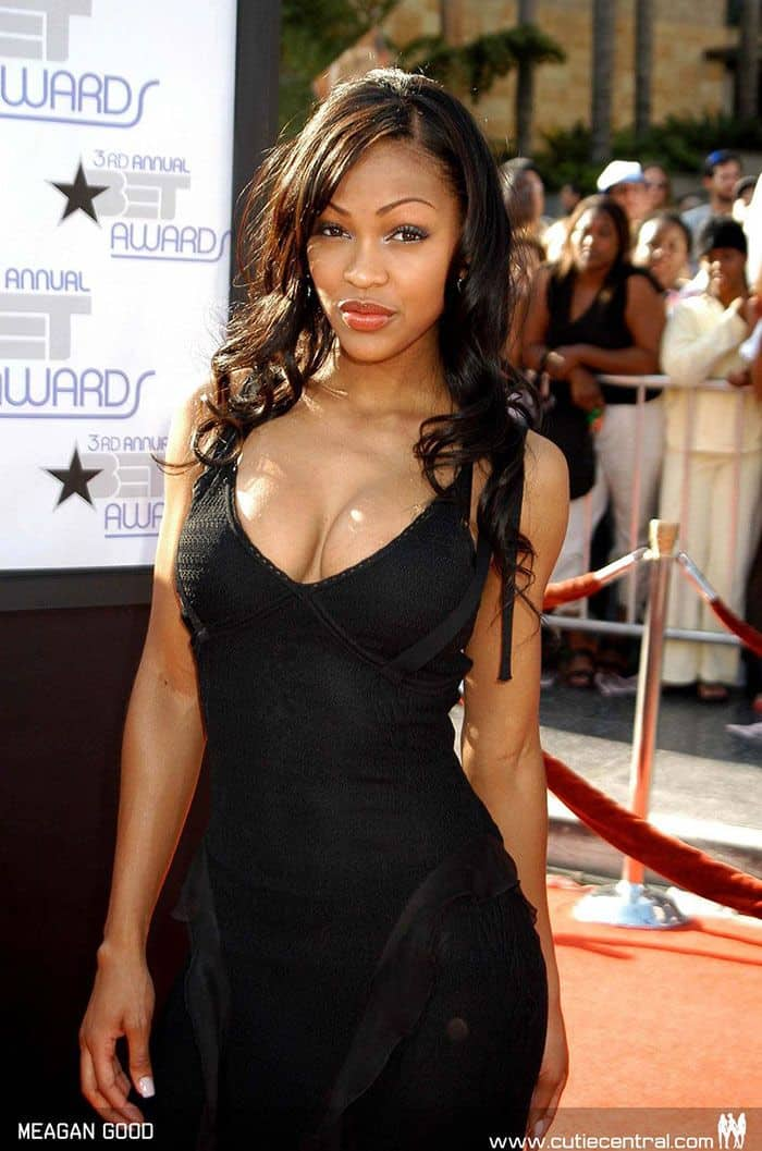 Meagan Good hot in black dress