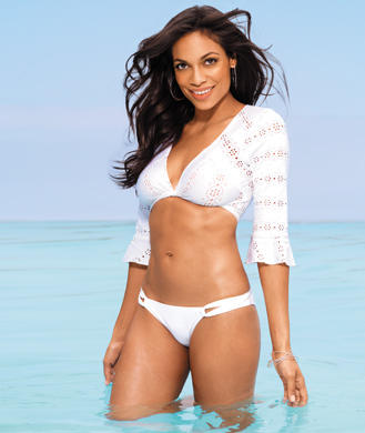 Rosario Dawson fit and famous black actress