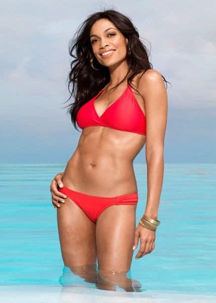 Rosario Dawson sexy abs