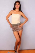 sexy Filipina momma in leopard print skirt