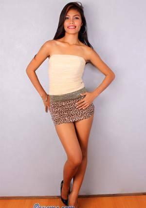 sexy Filipina momma in leopard print skirt