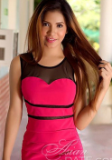simple Filipina girl in pink dress