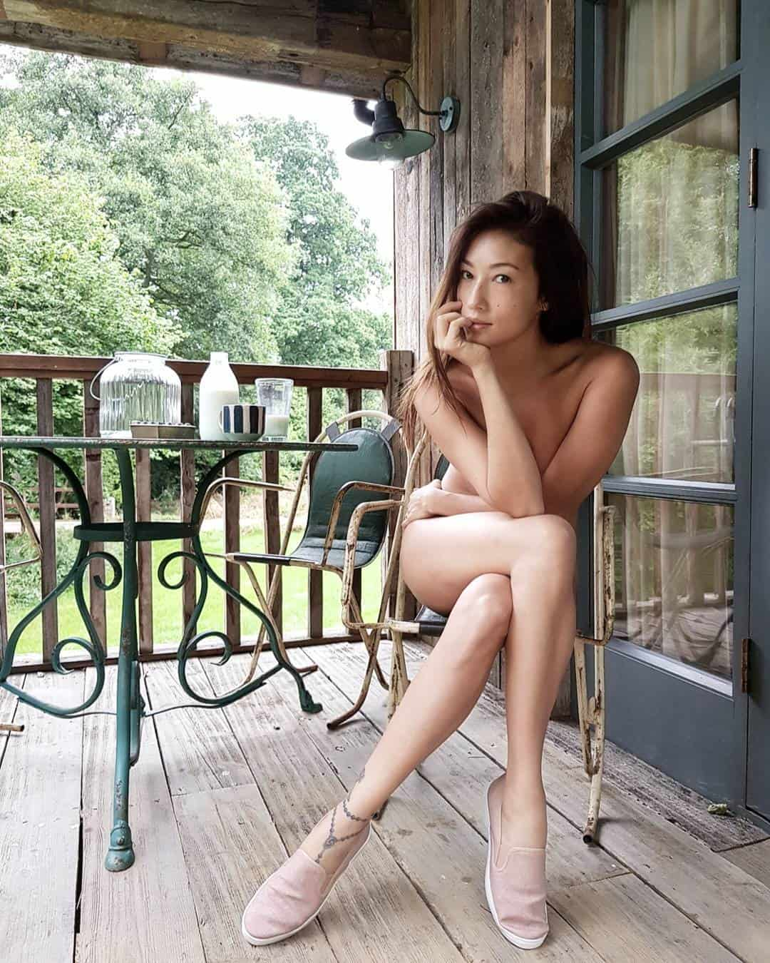 Solenn Heussaff naked in the woods