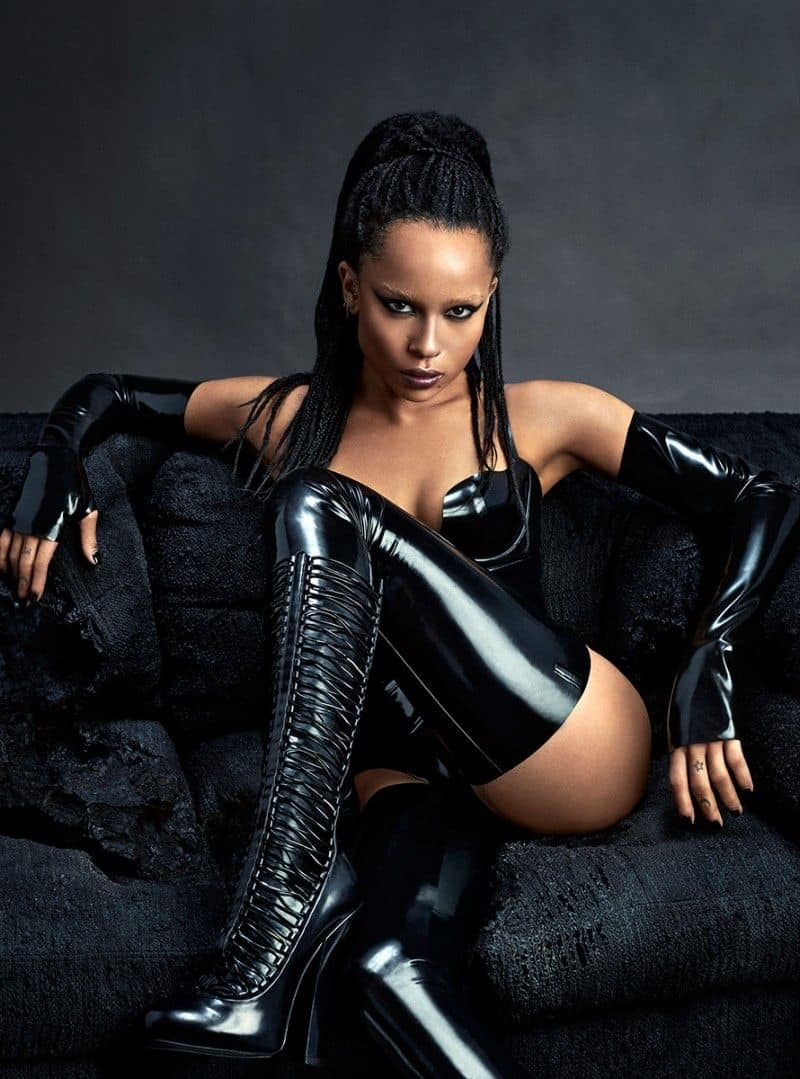Zoe Kravitz rocks over on boots