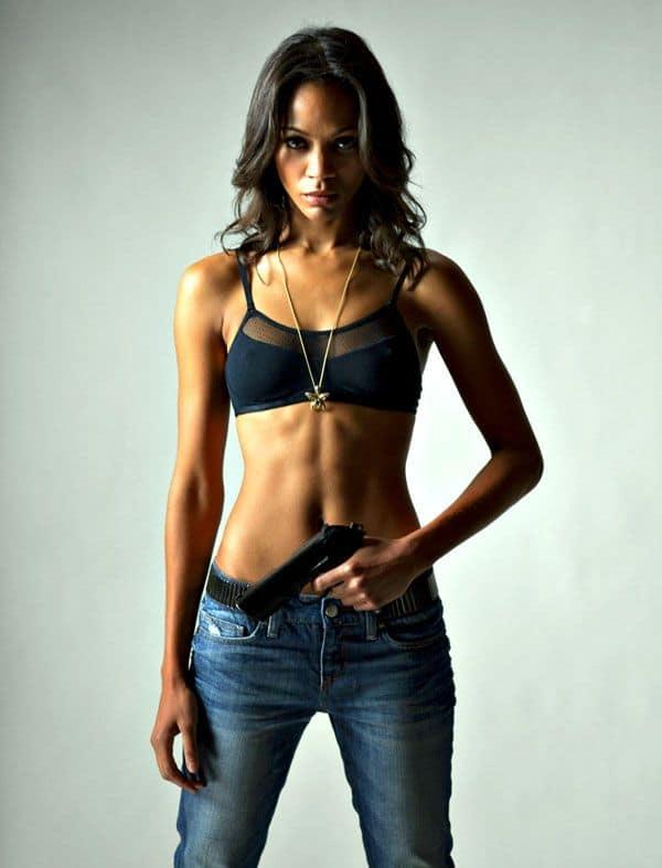 Zoe Saldana badass black actress