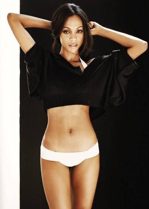 Zoe Saldana curvy and sexy body