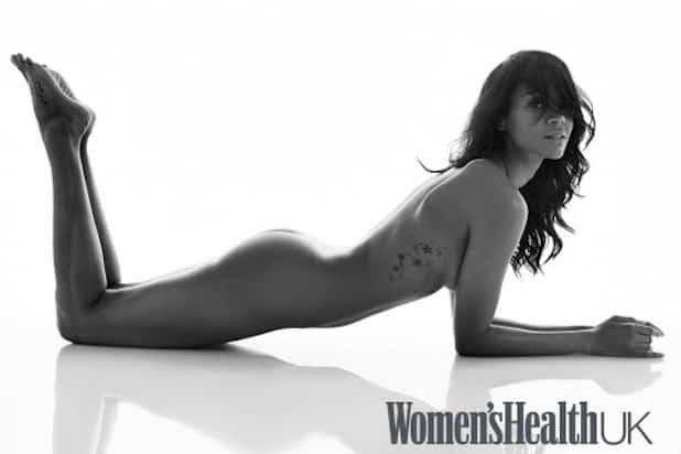 Zoe Saldana naked Women's Health photoshoot