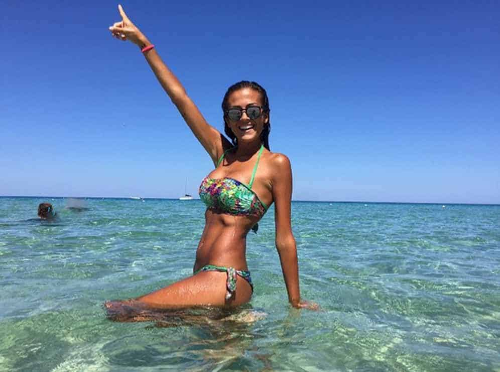 Giorgia Palmas enjoying the beach