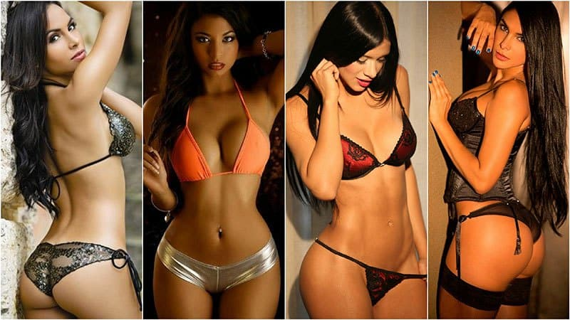 Single Latin women in lingerie
