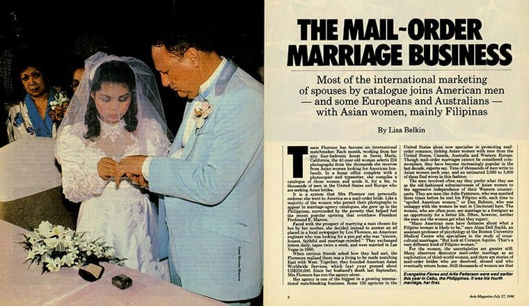 Mail order marriage business article from early 80s